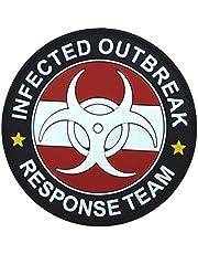 Oostenrijk Oostenrijkse vlag geïnfecteerde uitbraak Response Team gloed in de donkere PVC Airsoft morale patch