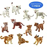 Toymany 11PCS Wild Animal Cubs, High Realistic Animal Figures Plastic Animal Toy Set, Excellent Learning Party Gift Favors Playset For Kids Children Toddler