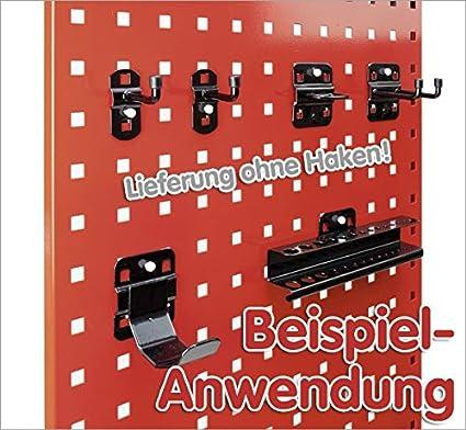 BxH 2000x450 mm BRB Lagertechnik GmbH System-Lochplatte lichtgrau RAL 7035