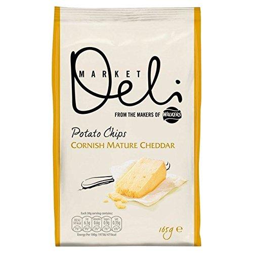 Walkers Market Deli Mature Cornish Cheddar Potato Chips 165g Bag