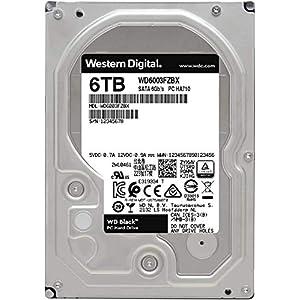 """WD Black 6TB Performance Internal Hard Drive - 7200 RPM Class, SATA 6 Gb/s, 256 MB Cache, 3.5"""" - WD6003FZBX"""