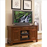 Home Style 5520-10 Aspen TV Credenza Stand, Rustic Cherry