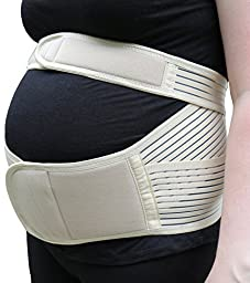 Medipaq Maternity Support Belt - Ultimate Comfort During Pregnancy Natural 1X Support (Medium)