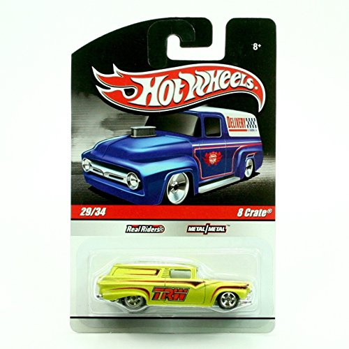Hot Wheels Treat (8 CRATE 29/34 * METALLIC LIME GREEN * Slick Rides 2010 Hot Wheels Delivery Series 1:64 Scale Die-Cast)