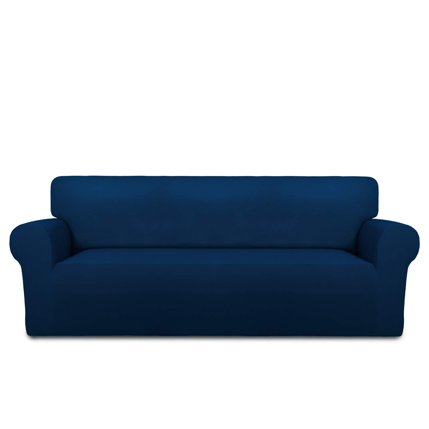 Easy-Going Fleece Stretch Sofa Slipcover Soft Couch Sofa Cover, Washable Micro Fiber Non-Slip Furniture Protector with Anti-Skid Foam and Elastic Bottom for Kids, Pets(Sofa,Navy)