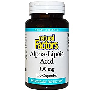 Natural Factors - Alpha-Lipoic Acid 100mg, Antioxidant Support, 120 Capsules