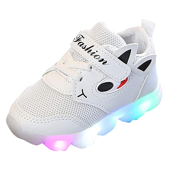 Naturazy Zapatos Rayas Bebé Iluminan Luminosas Calzado Running Zapatos Ligero Y Transpirables para Unisex Toddler Baby GIRS Led Light Shoes NiñOs Soft ...