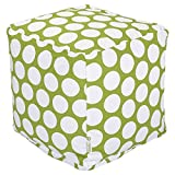Majestic Home Goods Hot Green Large Polka Dot Cube, Small For Sale