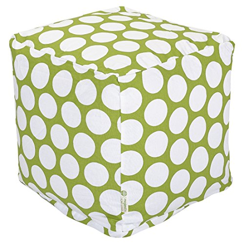 Majestic Home Goods Hot Green Large Polka Dot Cube, Small by Majestic Home Goods