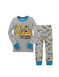 Kidsmall Little Boys Long Sleeve Pajama Set 100% Cotton sleepwear 2-7 Years