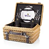NFL Minnesota Vikings Champion Picnic Basket with Deluxe Service for Two, Black