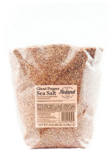Roland Foods Sea Salt, Ghost Pepper, 5 Pound by Roland Foods