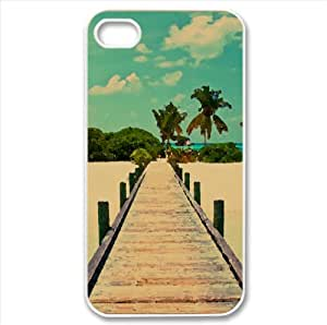 Tropical Dock Watercolor style Cover iPhone 4 and 4S Case (Beach Watercolor style Cover iPhone 4 and 4S Case)