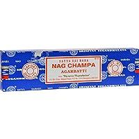 Incienso de palitos de incienso de Agarbatti Satya Sai Baba Nag Champa Caja de incienso fino de Agarbatti laminados a mano para la purificación, relajación, positividad, yoga, meditación