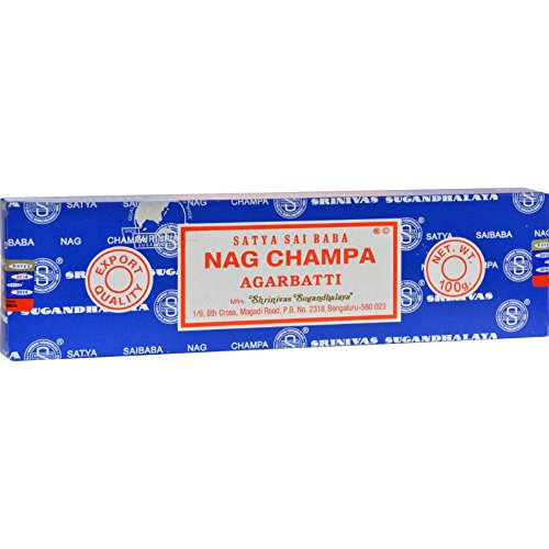 Satya Sai Baba Nag Champa Agarbatti Incense Sticks Box 250gms Hand Rolled Agarbatti Fine Quality Incense Sticks for Purification, Relaxation, Positivity, Yoga, Meditation - incensecentral.us