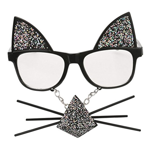 TOYMYTOY Funny Party Glasses Cat Whiskers Sunglasses Costumes Cosplay Accessory]()
