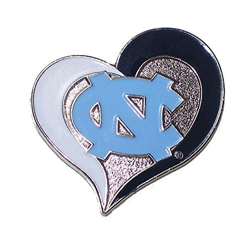 North Carolina Tar Heels Lapel Pins - North Carolina Tar Heels Lapel Pin Heart Shape with Team Logo NCAA Licensed