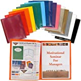 StoreSMART Plastic Archival Folders Rainbow Colors FOUR 16-packs - 64 Folders - 4 Each of Sixteen Bright Colors (R900ALL16-4)