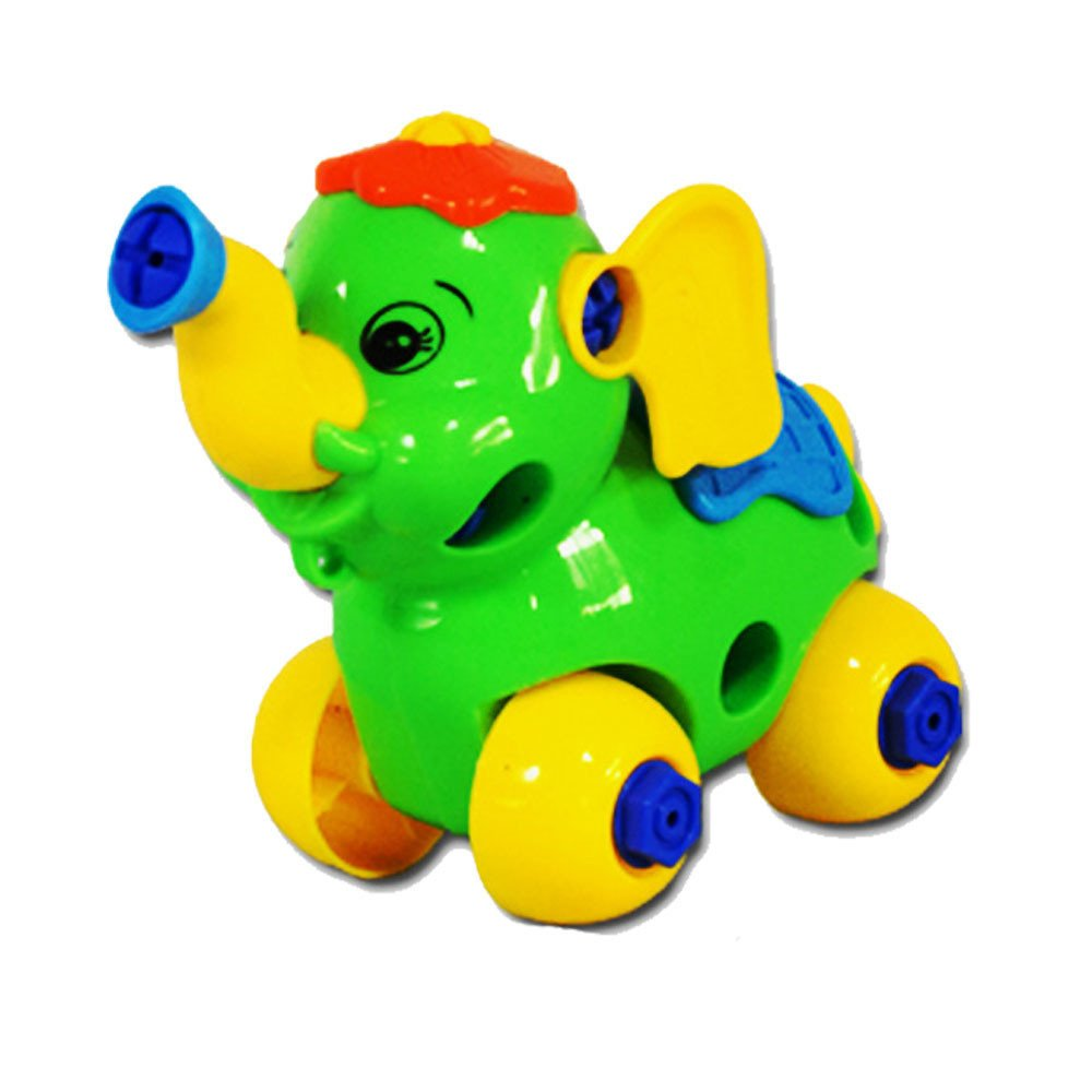 Kasenxet Baby Toy Car Colorful Funny Elephant Disassembly Educational Toys for Children Kids(A)