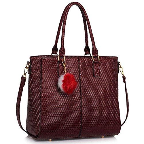 Handbags For Women Tote Grab (Burgundy) Desig…