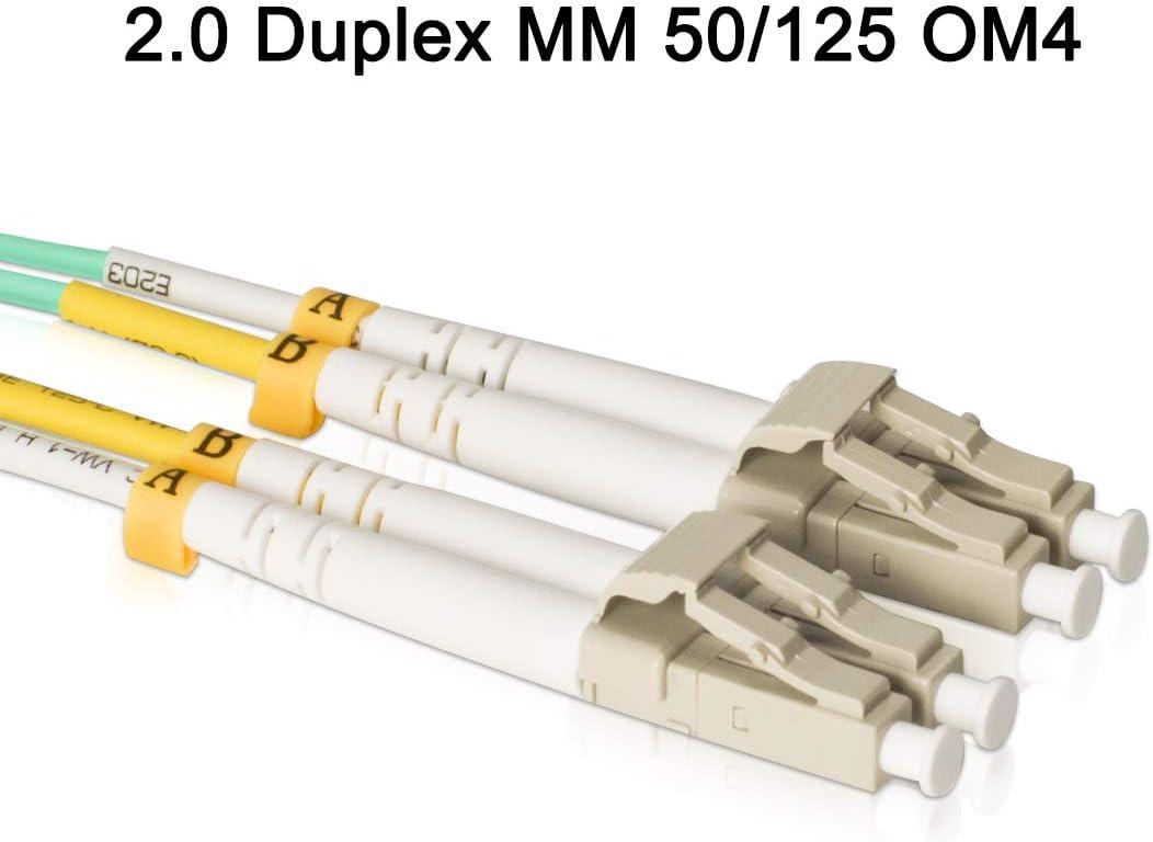 7 Meter // 22.96ft, 1 Pack VANDESAIL 10G Gigabit Fiber Optic Cables Multimode OM3 Duplex 50//125 OFNP LC to LC Fiber Patch Cable