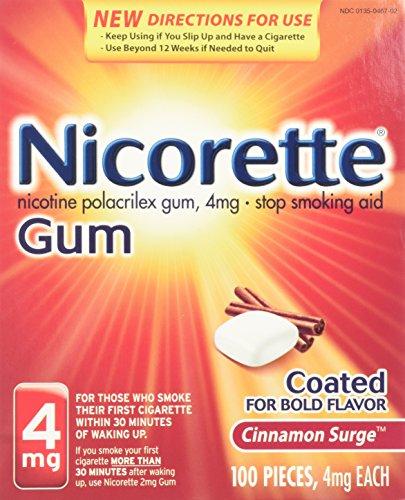 Cinnamon Surge Gum - Nicorette Gum 100 Pieces 4mg Cinnamon Surge Flavor