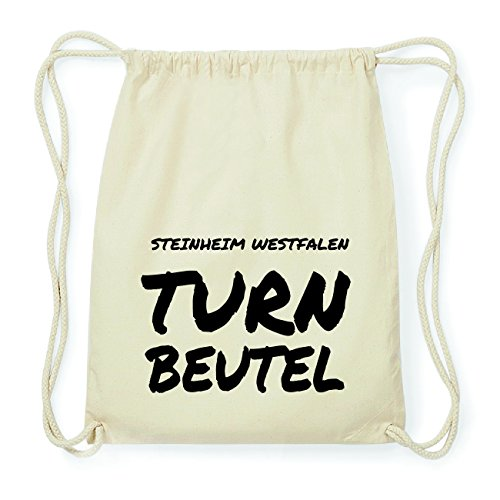 JOllify STEINHEIM WESTFALEN Hipster Turnbeutel Tasche Rucksack aus Baumwolle - Farbe: natur Design: Turnbeutel 4MNDRK