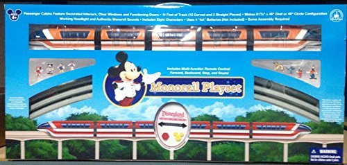 Deluxe Upgraded Remote Controlled Monorail Play Set - Disneyland Theme Park Exclusive - Limited Availability (Parks Christmas Disney Train)