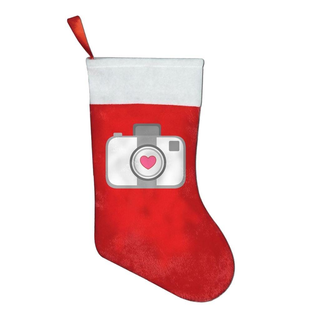 Amazon.com: Camera Heart Initial Christmas Designs Kids Christmas ...