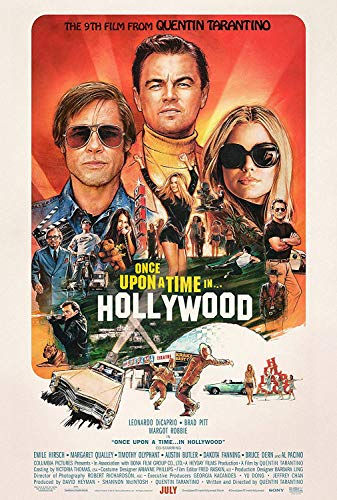 Once Upon A Time in Hollywood (The 9th Film from Quentin Tarantino) Poster Movie Promo (2019) 16 x 25 inches Poster Print Limited Edition Print Frameless Art Gift 40 x 63 cm
