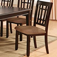 247SHOPATHOME IDF3100SC Dining-Chairs, Brown