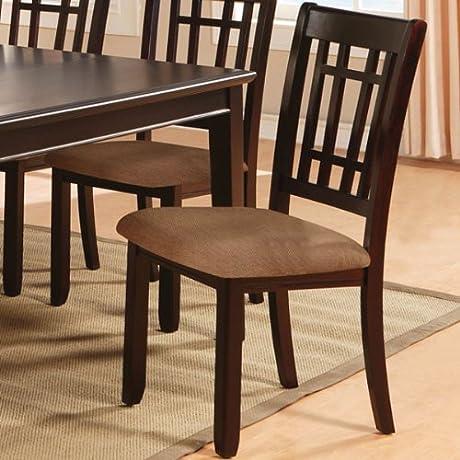Kendall Dark Cherry Finish Dining Chairs Set Of 2