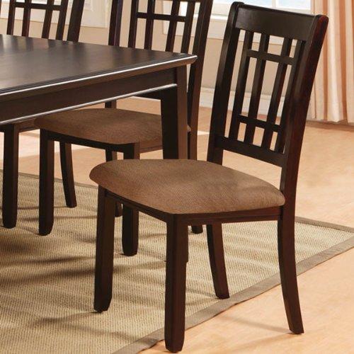 Kendall Dark Cherry Finish Dining Chairs (Set of 2)