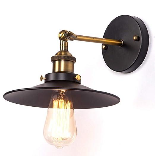 Maxmer Apliques de Pared Vintage Lámpara Industrial Lámpara de Pared, Casquillo E27, Color Negro