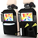 "Kick Mats Back Seat Protector - XL Premium Car Seat Protector Kids Back Seat Organizer, Car Seat Organizer, Backseat Car Organizer 2 Pack with Tablet Holder 12"", Car Garbage Can & Car Tissue Holder"