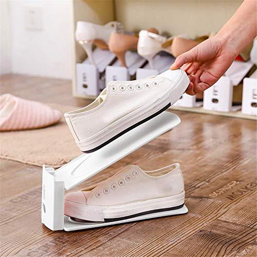 Réglable Chaussures Stockage Chaussures Domestique Poussière Protégé nbsp;pcs Support 6 Double La Contre De À PE7nT