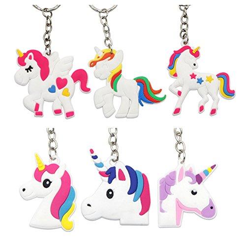 8x pcs Porte clés de la licorne Cadeaux clés Cadeaux invités Anniversaire enfants Unicorn