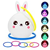 Best Night Light With Double Touches - Kids Bunny Night Light Toss Game Set, Portable Review