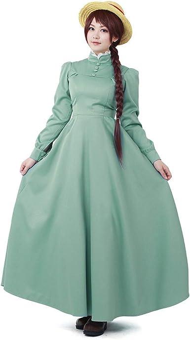 Howls Moving Castle Sophie Hatter Maid Uniform Dress Cosplay Costume