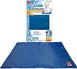 Hugs Pet Products Chillz Pressure Activated Pet Cooling Gel Pad - No Need To Freeze Or Chill - Keep Your Dog Cool and Reduce Joint Pain - XL