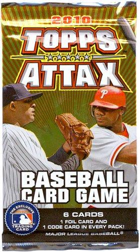 Booster Baseball - Topps 2010 Attax MLB Major League Baseball Booster Pack