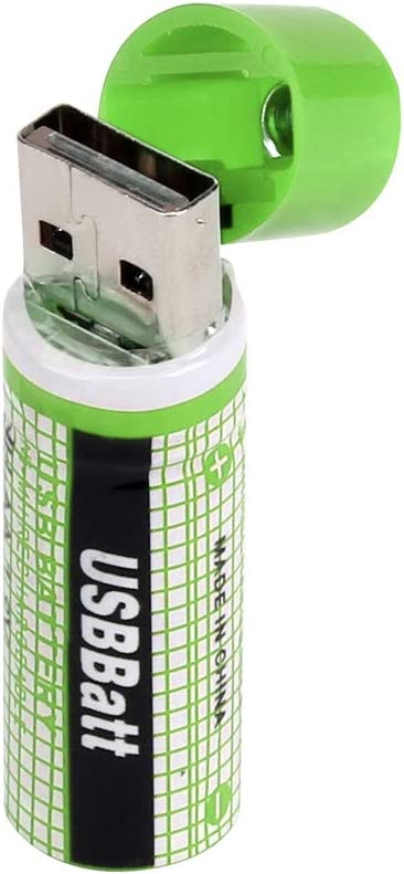 NH AA Battery /& Integrated USB Charger Rechargeable 1450mAh 1.2V 2 Pack
