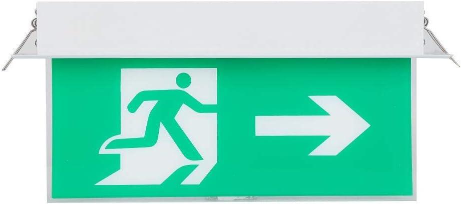 Bibliothek PMCC LED-Notausgangsbeleuchtungsschild Sicherheitsanzeigelampe Geeignet f/ür Superm/ärkte Hotels Krankenh/äuser Tangxi LED-Notausgangsschild