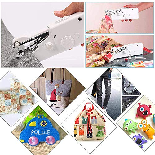 LucaSng Handheld Sewing Machine Portable Mini Electric Sewing Machine For Fabric Home Travel 28 Piece Set