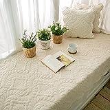 SQINAA Velvet non-slip bay window mat,Pure window seat cushion balcony mat floating window blanket sofa slipcovers tatami mat-D 90x240cm(35x94inch)