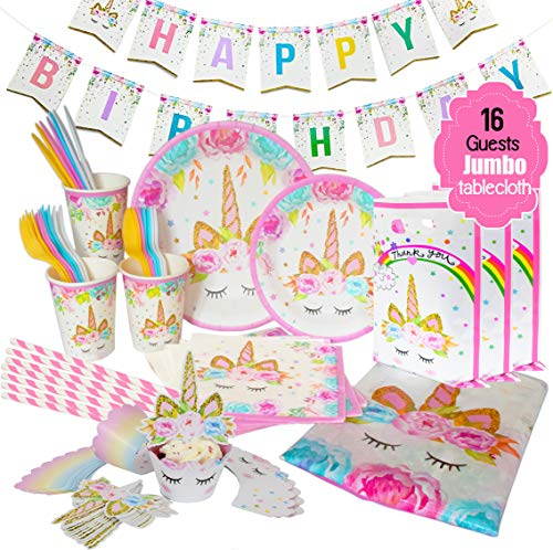 Great Deal! ecoZen Lifestyle Ultimate Unicorn Party Supplies for Birthday Party | Best Value Unicorn...