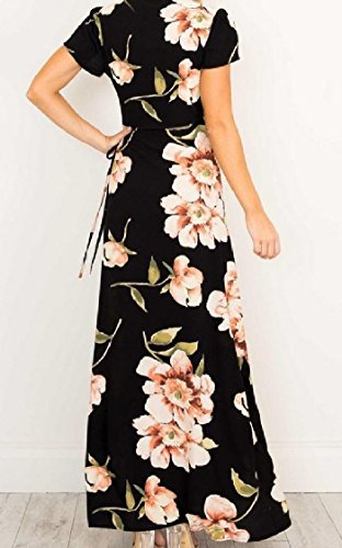 Pendulum Women Sexy Split As Maxi V Coolred Neck Big Picture Dress Beach Floral qYRx0w4