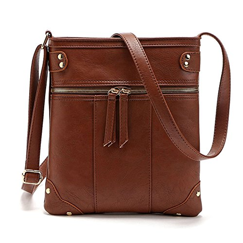 Faux Coffee Purse for Bag for Teen Shoulder ZOONAI Crossbody Crossover Women Girls Small Leather RxOXnT