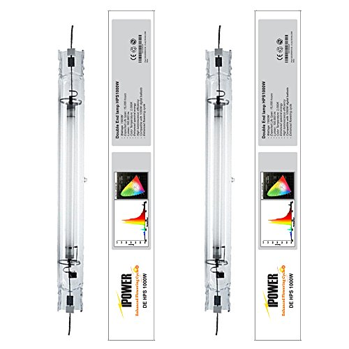 iPower 2-Pack 1000 Watt Double Ended Enhanced Performance HPS Lamp 2000K by iPower Grow Light