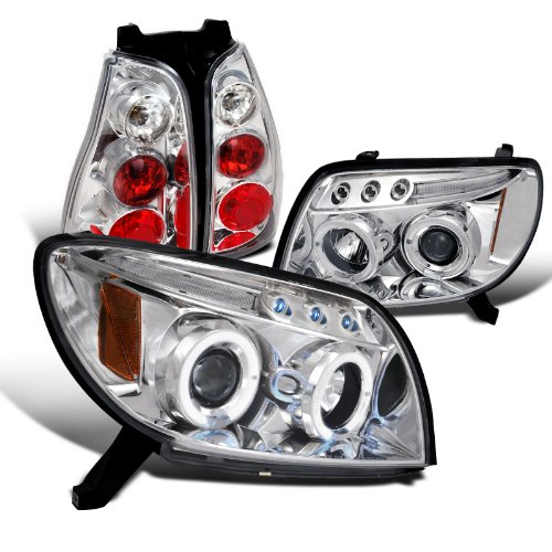 4runner Projector Headlights (Toyota 4Runner Halo Led Clear Projector Headlights+Altezza Tail Lights)